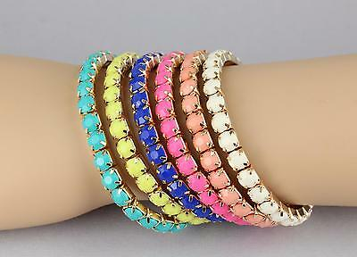 faceted beaded gem bracelet stretch stretchy bracelet round plastic stone