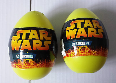 Star Wars 2005 Lot Of 2 Easter Eggs with stickers inside, NEW, Free Shipping](Star Wars Easter)