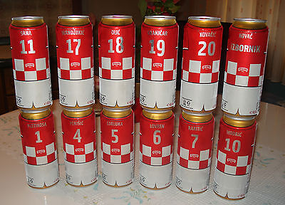 CROATIA SOCCER - BRASIL 2014 .G. - FULL TIM - 12 DIFFERENT - FULL SET-