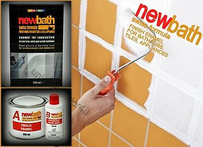 Tile Paint Kit (Bath Resurfacing Kit 2K Quick Dry Enamel White Paint Repair Tiles)
