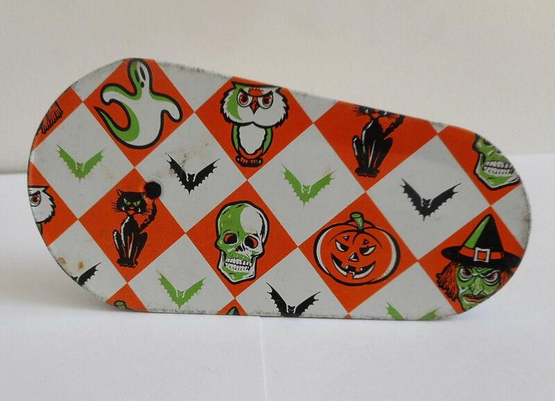 Vintage Halloween Noise Maker, Skulls, Witches, Bats, Etc. Circa 1970s / 1980s