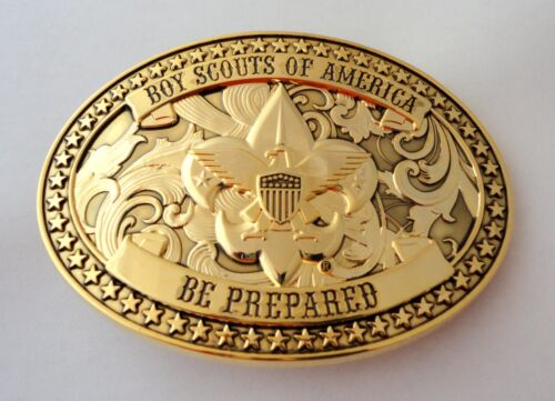 Boy Scouts of America Beautiful GOLD BSA Belt Buckle - Great Eagle Gift Idea