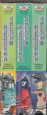 Transformers 3 Pack Set 3 (VHS, 3-Tape Set) Vols 7 8 9
