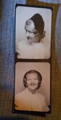 VINTAGE 1940s FASHION HAT HAIR LIPSTICK PHOTOBOOTH VERNACULAR PHOTOGRAPHY PHOTOS