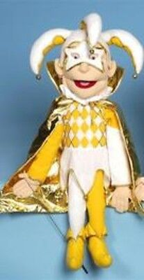 """28"""" Jester In Gold Color Puppet GS2534 New By Sunny"""
