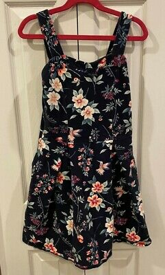 Abercrombie Kids Floral Strapless Dress With Pockets-Girls 9/10