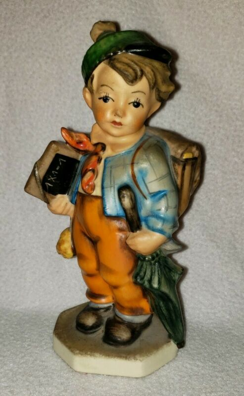 Vintage Friedel READY FOR SCHOOL Germany Bavaria Figurine Handpainted Statue