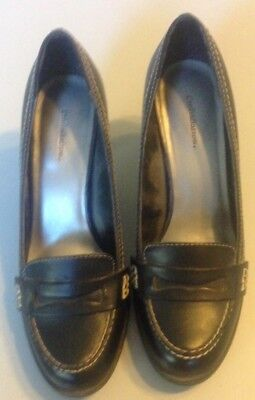 Croft And Barrow Women's Maria Black Leather Dress Shoes 2.5