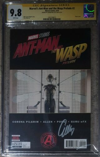 Marvel's Ant-Man and the Wasp Prelude #2__CGC 9.8 SS__Signed by Evangeline Lilly
