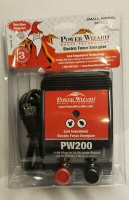 Power Wizard Pw200 110v Plug-in Electric Fence Charger