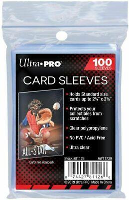 (100) Ultra Pro Soft Penny Card Sleeves New, Acid Free, No PVC - free shipping