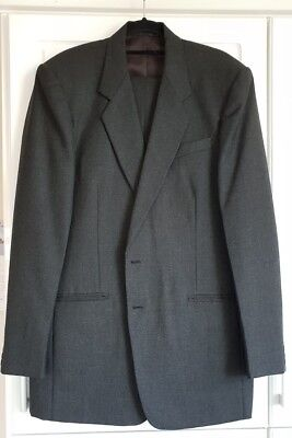 Cashmere/wool mens dark grey suit - tall, single breasted Cashmere Single Breasted Suit