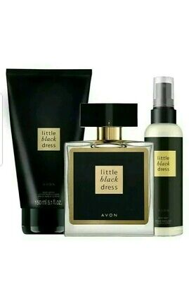 Avon Little Black Dress 3pc set perfume,  Body Mist & Body Lotion Xmas gift set