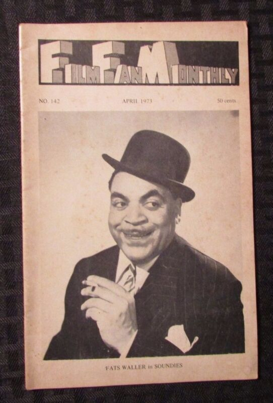 1973 FILM FAN MONTHLY Digest Fanzine #142 VG+ Fats Waller in Soundies