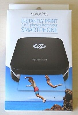 HP - Sprocket 100 Photo Printer Smartphone Printer (Black) NEW FREE SHIPPING!!