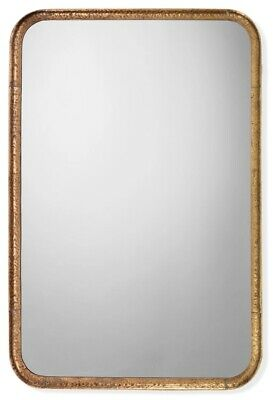 """Jamie Young Rectangle Principle Vanity Mirror Gold Leaf 36""""H x 24""""W x 1.25""""D New"""