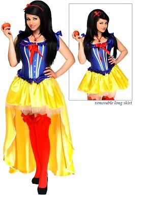 Plus Halloween Costumes 2019 (Daisy Poisoned Apple Corset Costume Snow White Style Plus Size Dress Women's)