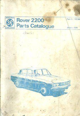 ROVER P6 2200 SALOON ORIGINAL 1974 FACTORY PARTS CATALOGUE
