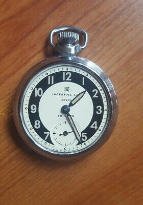Vintage Ingersoll Triumph Pocket Watch For Repairs