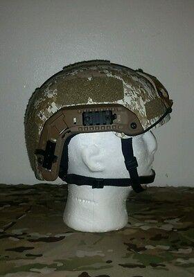 SOHAH Gunfighter DH132B Kevlar IIIA Ballistic Helmet med-lg CVC OpsCore maritime