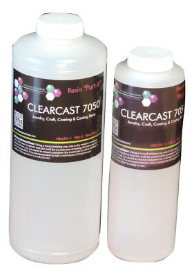 CLEAR EPOXY RESIN CASTING COATING SUPER CLEAR LIKE GLASS - 48oz KIT