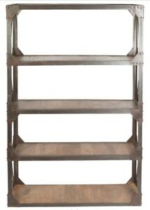 """Industrial """"Vintage Chic"""" Distressed Bookcase - Shelving Unit"""