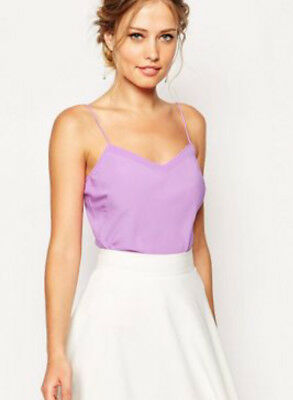 TED BAKER scallop edge detail Cami / Vest / Top in Lilac purple Sz S UK 6/8 BNWT Scallop Edge Top