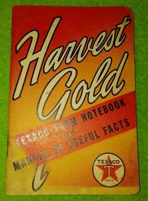 Texaco Harvest Gold Farm Notebook