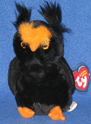 TY HOOTSEY the HALLOWEEN OWL - TY STORE EXCLUSIVE - MINT with MINT TAGS](Beanie Baby Halloween Owl)
