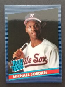 Michael Jordan Chicago White Sox Rated rookie oddball Baseball Card Free Ship