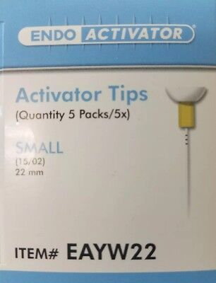 Endoactivator Tips Small Yellow 25 Activator Tips 22 Mm Dentsply Tulsa