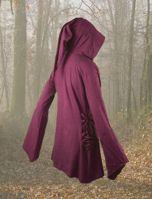 Gothic Mittelalter Shirt Kapuze Top Elfen - Tunika Hoodie 36 38 40 42 44 46 48 ()