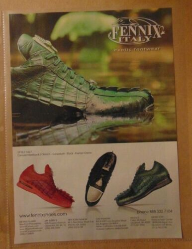 Three (3) FENNIX ITALY EXOTIC FOOTWEAR Shoe Print Ad Advertisements Advertising