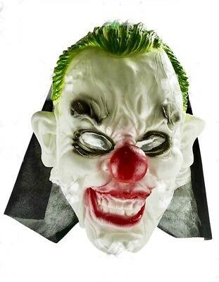 Scary Clown Witch Ghost Mask Latex Horror Halloween Props Fancy Dress Costume Uk - Scary Clown Halloween Costumes Uk