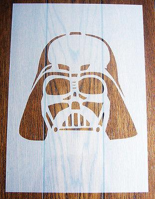 Darth Vader Stencil Mask Reusable Polypropylene Sheet for Arts & Crafts, DIY ()