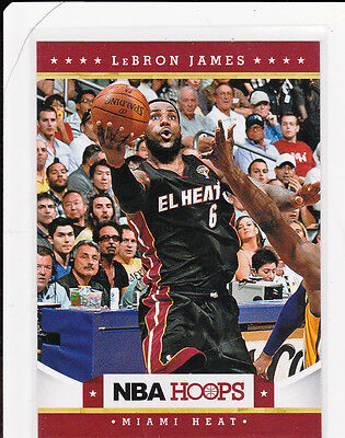 LeBRON JAMES Basketball EL HEAT JERSEY Miami Card #6 KING NBA HOOPS Finals MVP