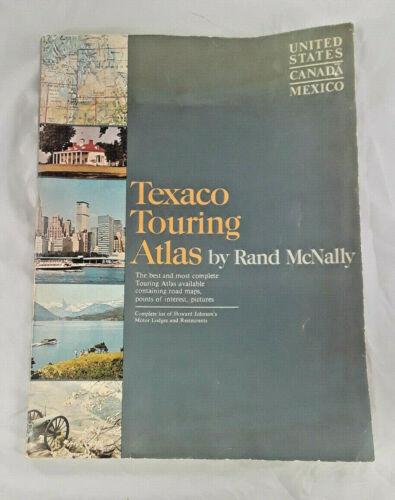 Vintage Texaco Touring Atlas by Rand McNally USA, Canada, and Mexico 1967