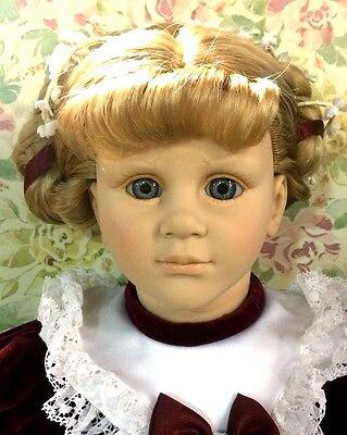 "FIBA Italy #24/4305 Bruno Sacchi Geraldine Blonde Hair Red Dress 25"" Vinyl Doll"