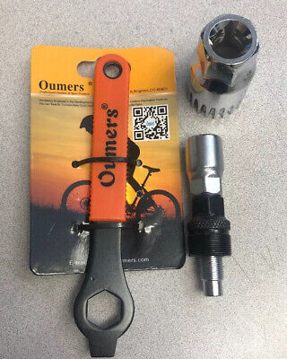 NEW Oumers Bike Crank Extractor/Arm Remover and Bottom Bracket Remover Wrench Crank Arm Extractor