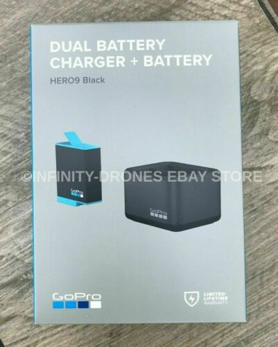 Genuine Original OEM GoPro HERO 9 Black Dual Charger + Spare Extra Battery