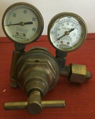 Vintage Craftsman Welding Oxygen Regulator Steampunk Made In Usa