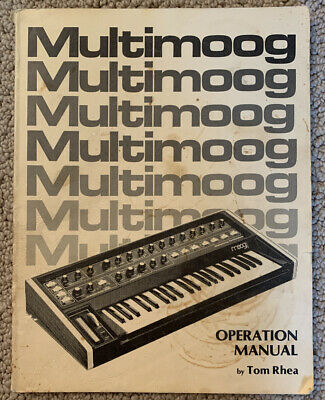 MOOG Multimoog Vintage Analog Synthesizer Owner's by Tom Rhea RARE d'occasion  Expédié en Belgium