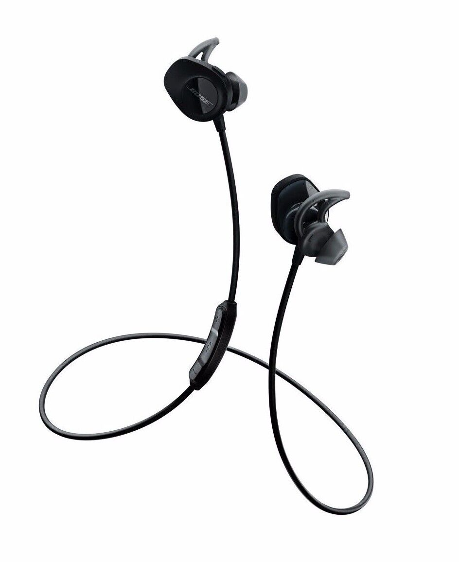 Bose SoundSport Wireless Headphones - Stereo - Black - Wirel