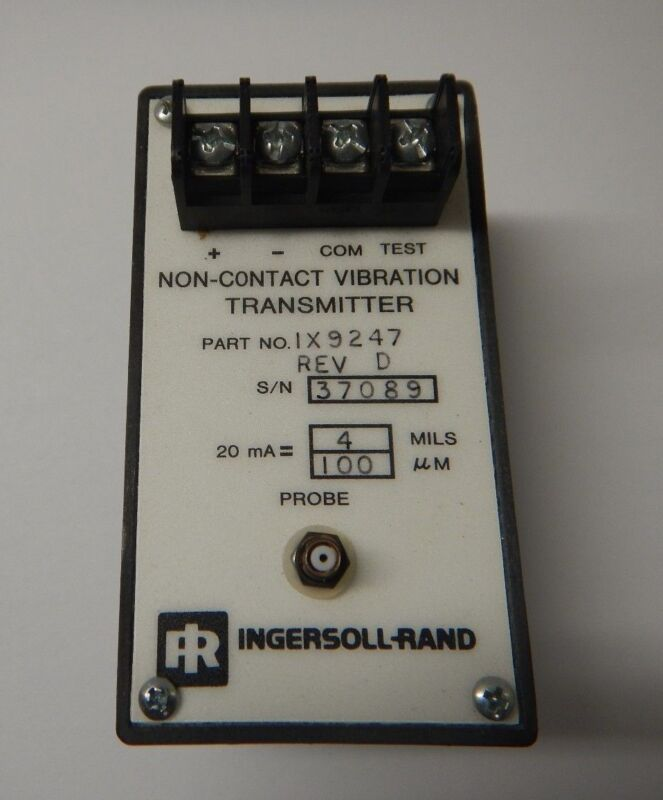 INGERSOLL-RAND 20mA NON CONTACT VIBRATION TRANSMITTER IX9247