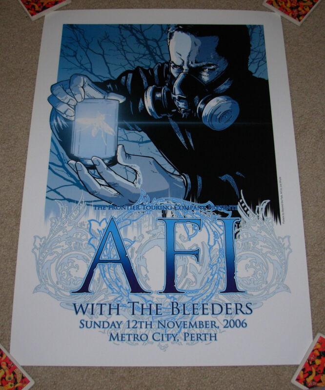 AFI concert gig poster print PERTH 11-12-06 2006 silkscreen tour