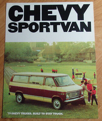 1977 CHEVROLET CHEVY SPORTVAN TRUCKS BROCHURE & SALES PAMPHLET 4 PAGES