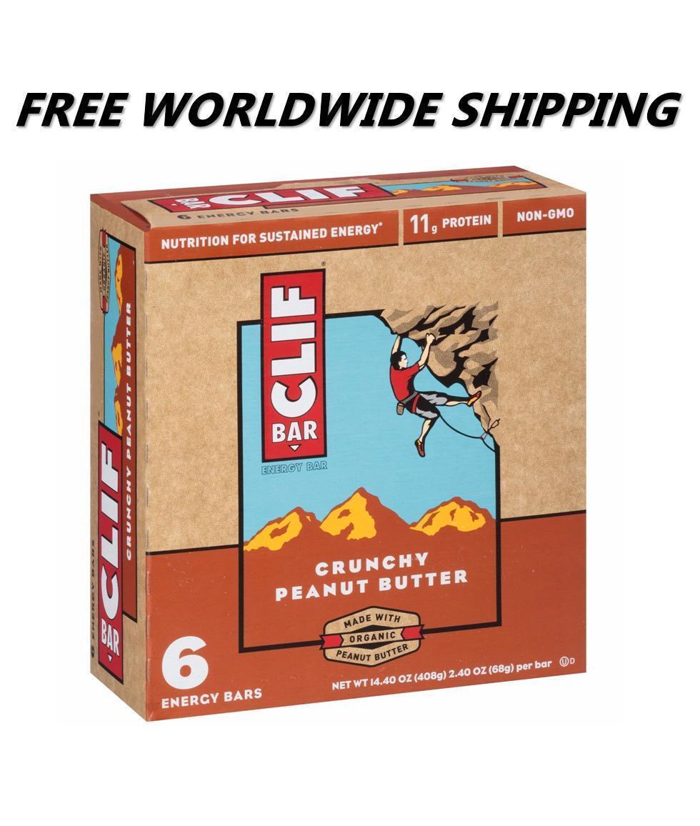 Clif Bar Crunchy Peanut Butter Energy Granola Bars 6 Ct WORL