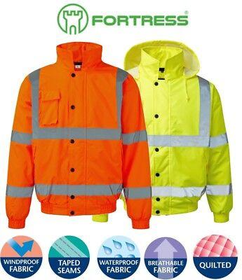 Best QUALITY Warm Insulated HI Vis Motorway Road Safety Jacket Waterproof + + +