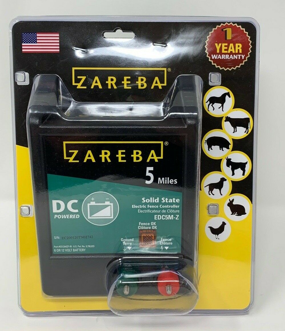 Zareba EDC5M-Z 5-Mile Battery Operated Solid State Electric