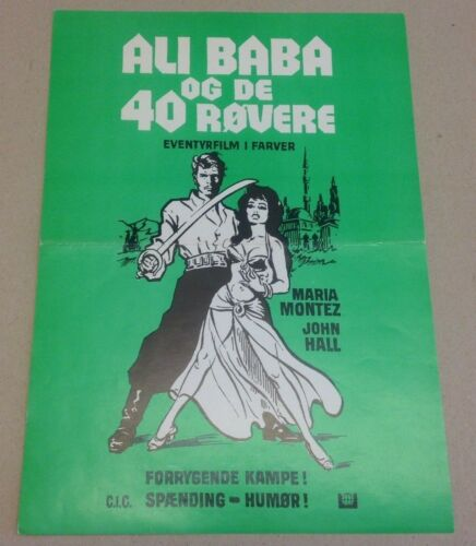 """Ali Baba and the Forty Thieves"" Maria Montez Vtg 1944 Danish Press Release Kit"
